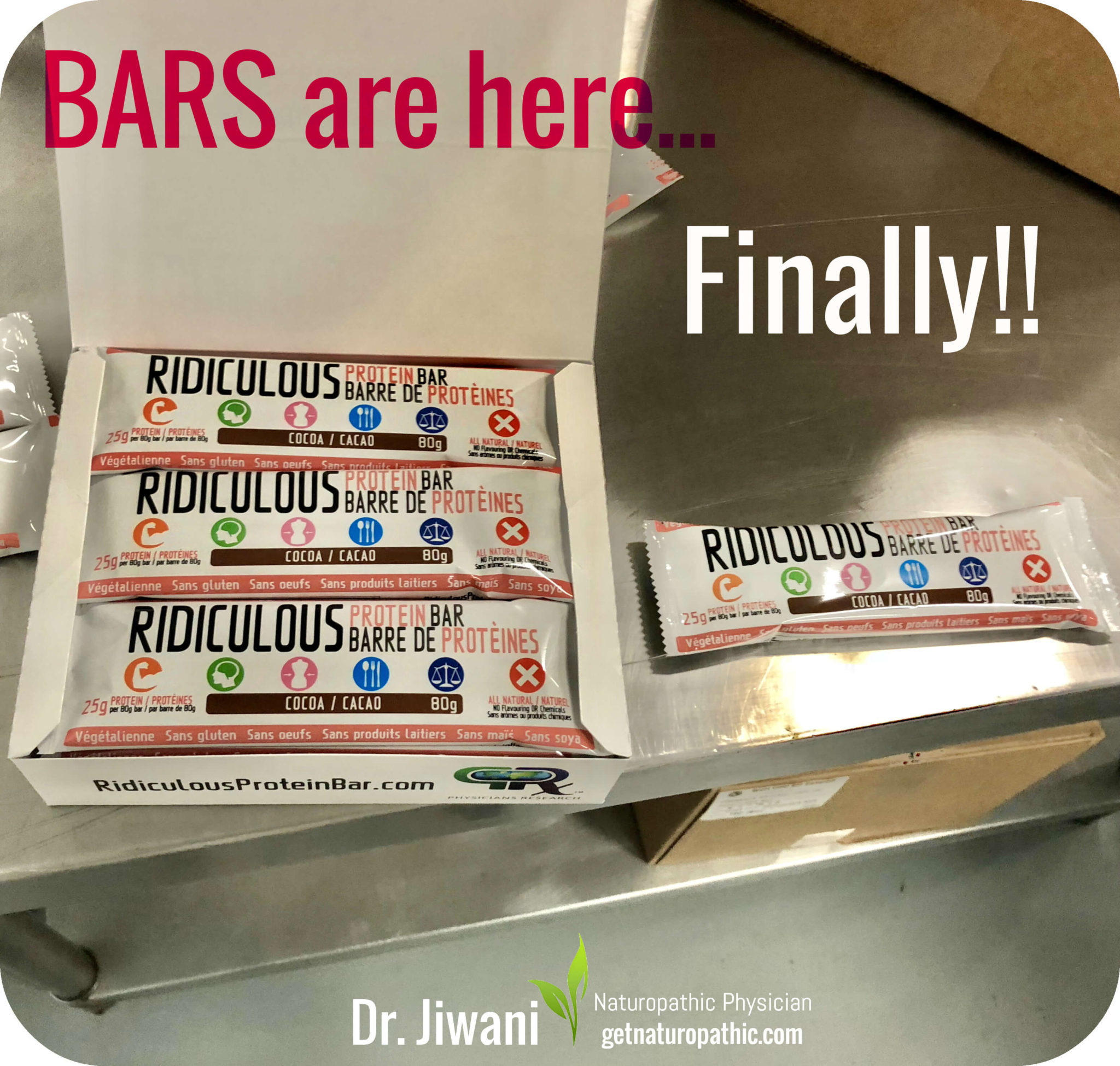 Dr. Jiwani Ridiculous Protein Bar Vegan Low Carb** | Dr. Jiwani's Naturopathic Nuggets Blog