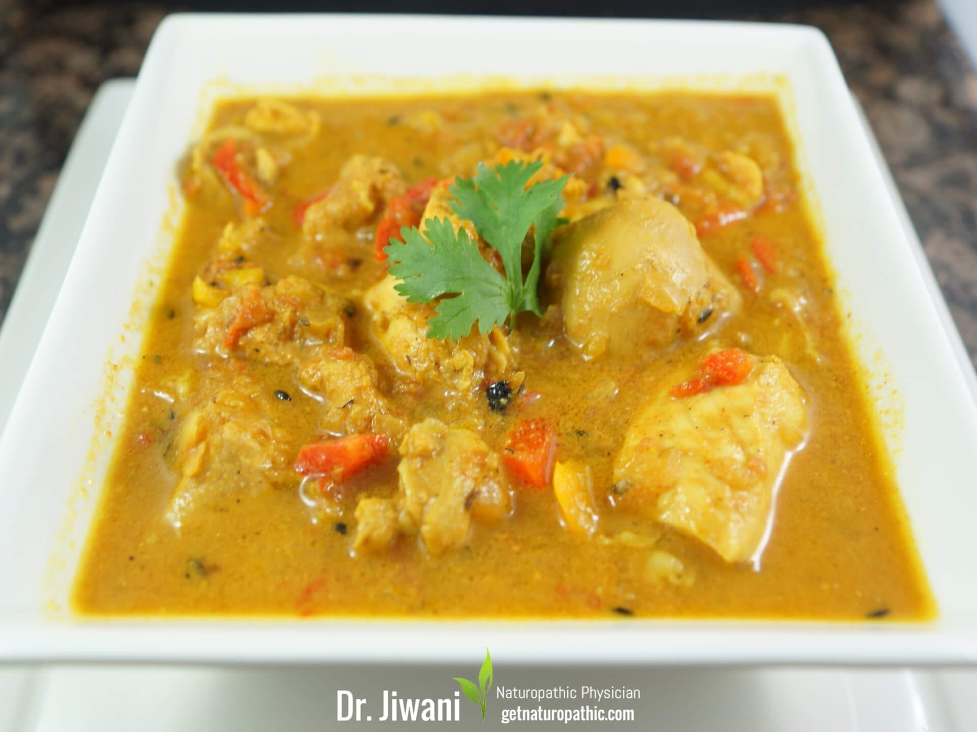 Dr. Jiwani's Classic Chicken Curry  (Low Carb Dairy-Free) Recipe: Gluten-Free, Grain-Free, Egg-Free, Dairy-Free, Corn-Free, Soy-Free, Sugar-Free, Ideal For Diabetic, Paleo, Keto & Candida Diets | Dr. Jiwani's Naturopathic Nuggets Blog